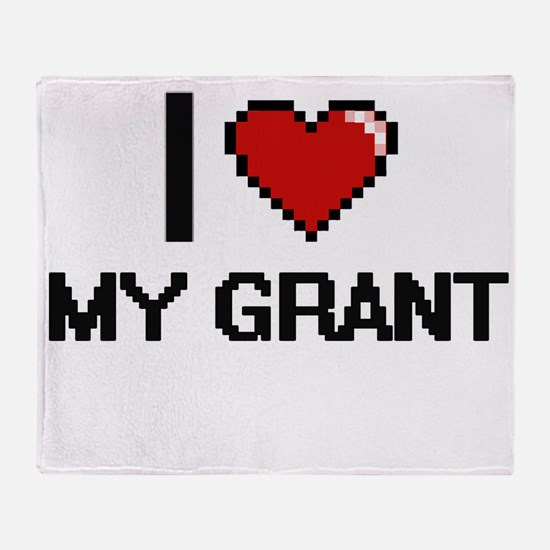 I Love My Grant Throw Blanket