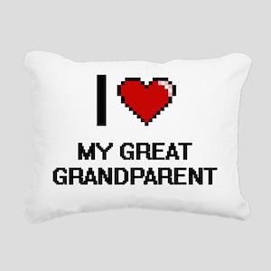 I Love My Great Grandpar Rectangular Canvas Pillow