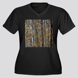 forest trees Camo Camouflage Plus Size T-Shirt