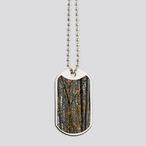 Autmn trees Camo Camouflage Dog Tags