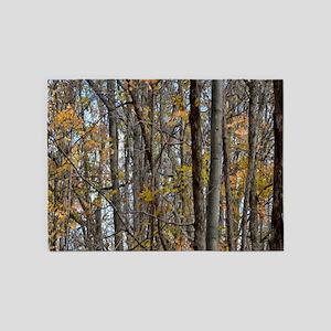 Autmn trees Camo Camouflage 5'x7'Area Rug