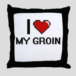 I Love My Groin Throw Pillow