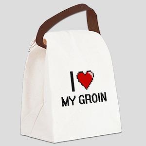 I Love My Groin Canvas Lunch Bag