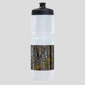 Autmn trees Camo Camouflage Sports Bottle