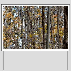 Autmn trees Camo Camouflage Yard Sign