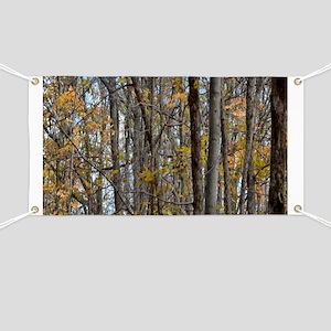 Autmn trees Camo Camouflage Banner
