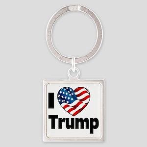 I Heart Trump Square Keychain