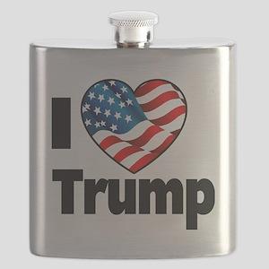 I Heart Trump Flask