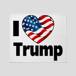 I Heart Trump Throw Blanket
