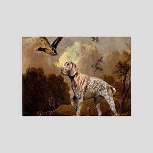 duck hunter hunting dog 5'x7'Area Rug