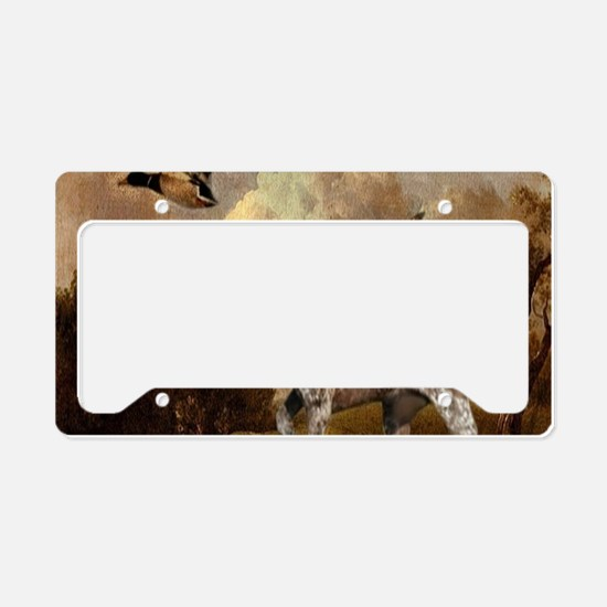 duck hunter hunting dog License Plate Holder