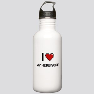 I Love My Herbivore Stainless Water Bottle 1.0L
