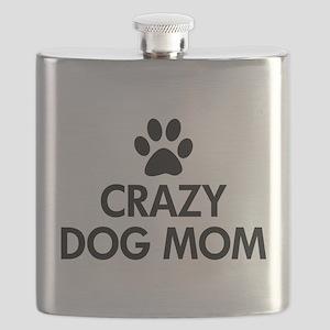 Crazy Dog Mom Flask