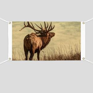 rustic western wild elk Banner