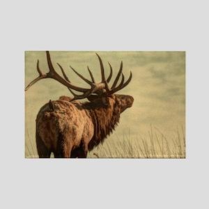 rustic western wild elk Magnets
