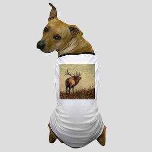 rustic western wild elk Dog T-Shirt