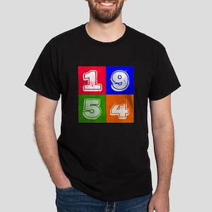 1954 Birthday Designs Dark T-Shirt