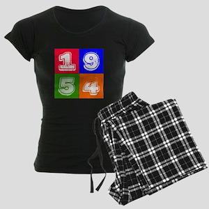 1954 Birthday Designs Women's Dark Pajamas