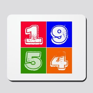 1954 Birthday Designs Mousepad