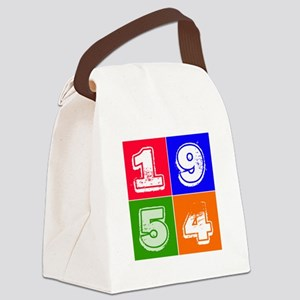 1954 Birthday Designs Canvas Lunch Bag