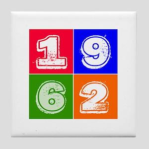 1962 Birthday Designs Tile Coaster