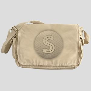 S Golf Ball - Monogram Golf Ball - M Messenger Bag