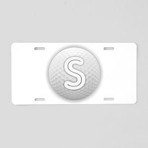 S Golf Ball - Monogram Golf Aluminum License Plate