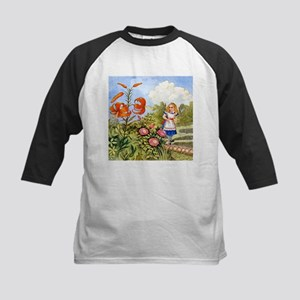 The Talking Flowers and Alice Kids Baseball Jersey