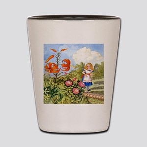 The Talking Flowers and Alice in Wonder Shot Glass