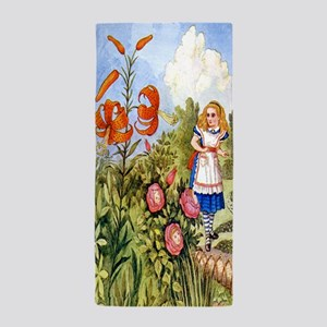The Talking Flowers and Alice in Wonde Beach Towel