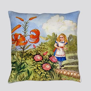 The Talking Flowers and Alice in W Everyday Pillow