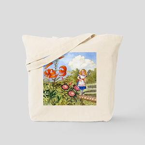 The Talking Flowers and Alice in Wonderla Tote Bag