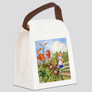 The Talking Flowers and Alice in Canvas Lunch Bag