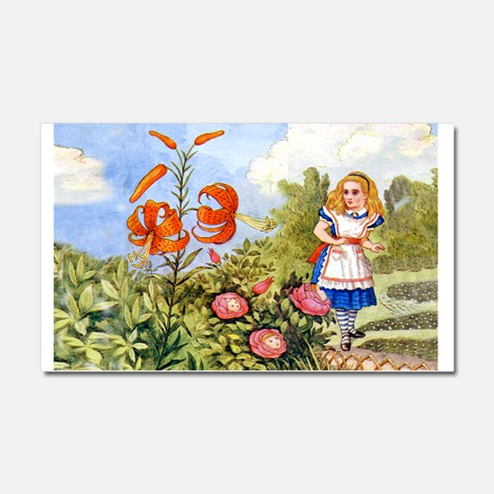 The Talking Flowers and Alice i Car Magnet 20 x 12