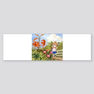 The Talking Flowers and Alice in Sticker (Bumper)