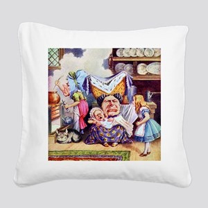 Alice, the Duchess and the Pi Square Canvas Pillow