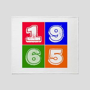 1965 Birthday Designs Throw Blanket