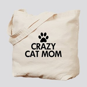 Crazy Cat Mom Tote Bag