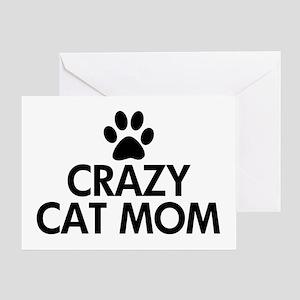 Crazy Cat Mom Greeting Card