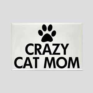 Crazy Cat Mom Rectangle Magnet