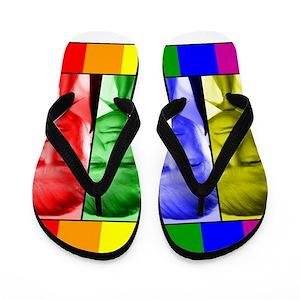 5b9f06c014f0 Gay Pride Flip Flops - CafePress