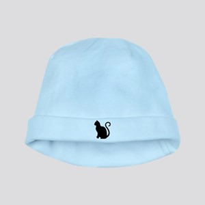 Black Cat Silhouette baby hat