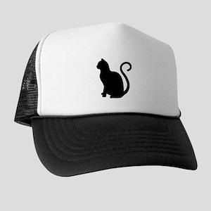 Black Cat Silhouette Trucker Hat