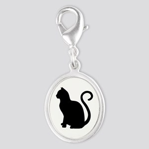 Black Cat Silhouette Charms