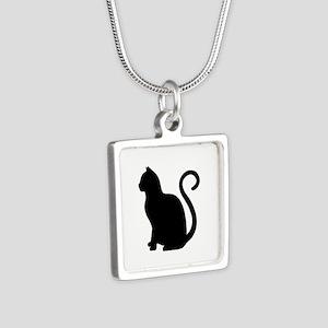 Black Cat Silhouette Necklaces