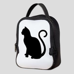 Black Cat Silhouette Neoprene Lunch Bag