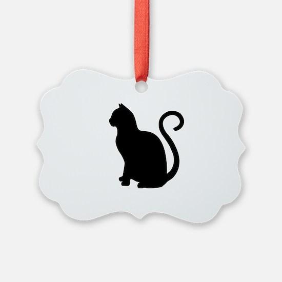 Black Cat Silhouette Ornament