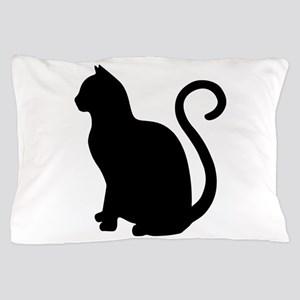 Black Cat Silhouette Pillow Case
