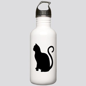 Black Cat Silhouette Stainless Water Bottle 1.0L