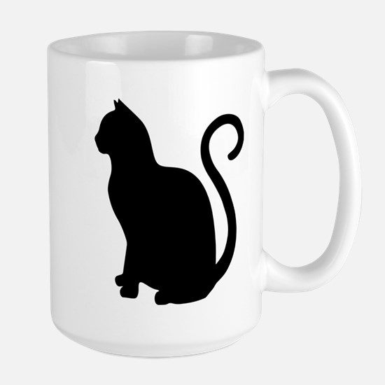 Black Cat Silhouette Mugs